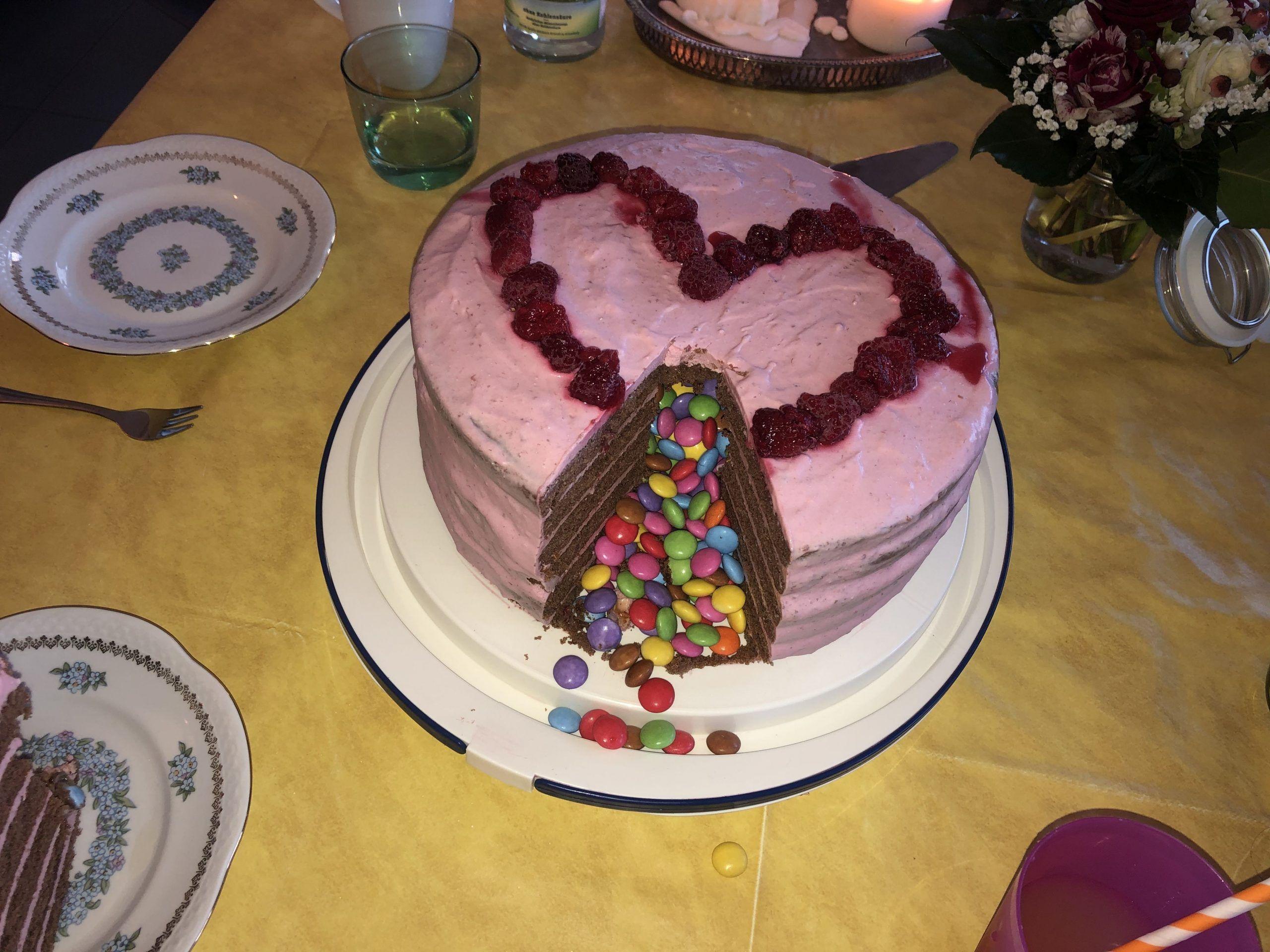 Photo of Pinata Cake Smarties Pink Child Birthday – Pinata Cake Smarties Pink Child …#b…