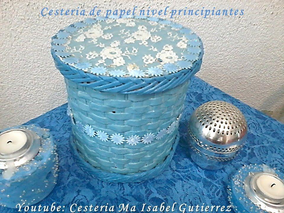 Cestería de papel nivel principiantes. DIY Paper baskets beginners level