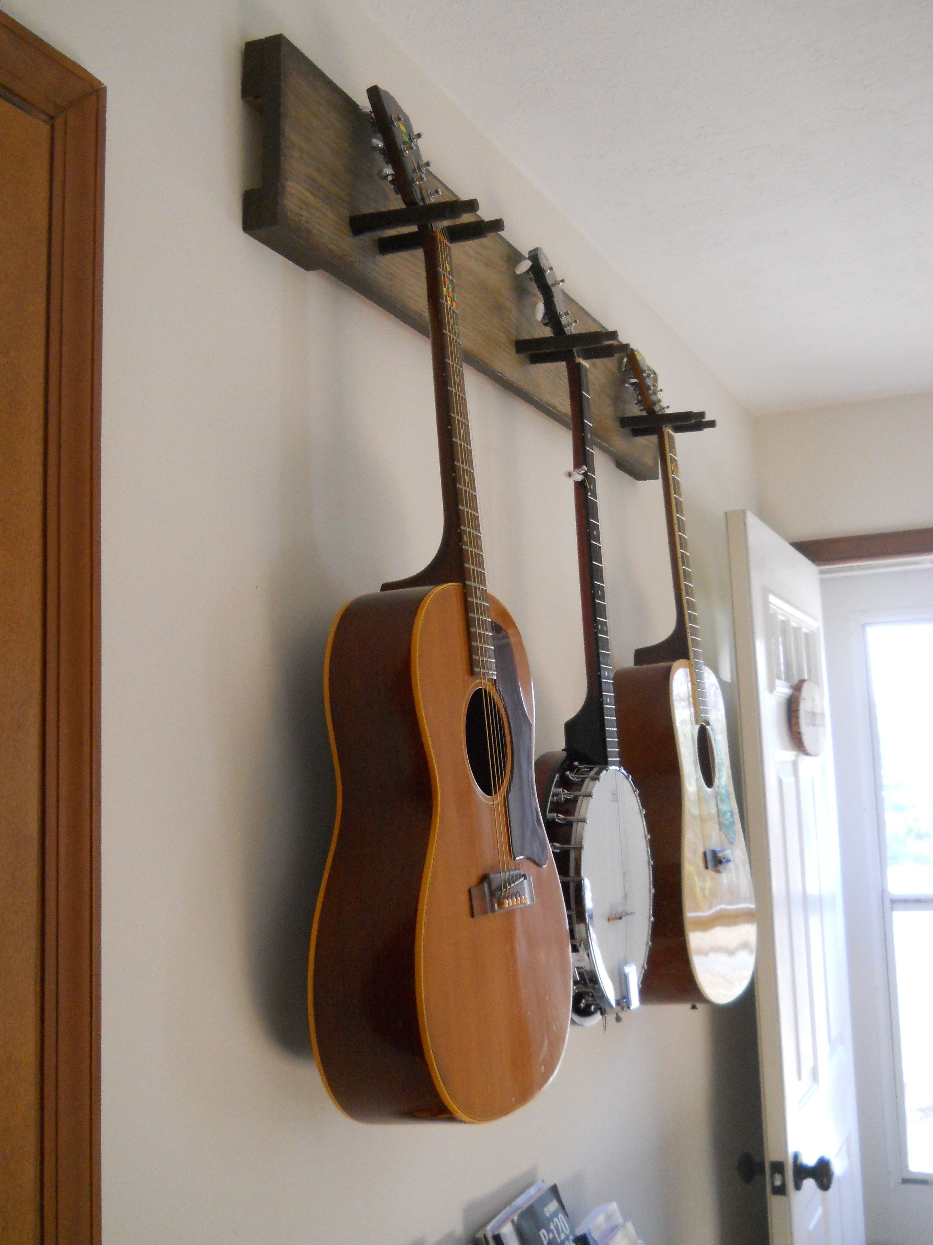 diy guitar hanger simple secure we practice so much. Black Bedroom Furniture Sets. Home Design Ideas