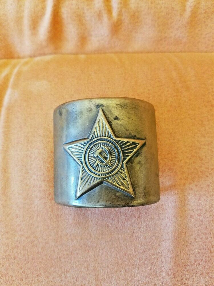 Authentic Soviet Russian Military Soldier Army Navy steel buckles