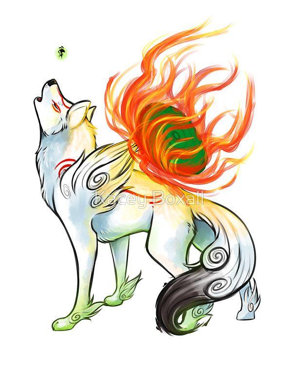 Okami Sticker Amaterasu Anime Wolf Character Art