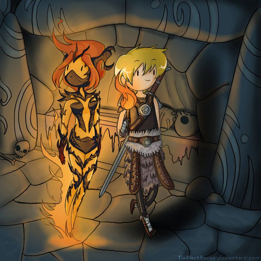 Dovahfinn And Flame Atronach Princess Skyrim Elder Scrolls