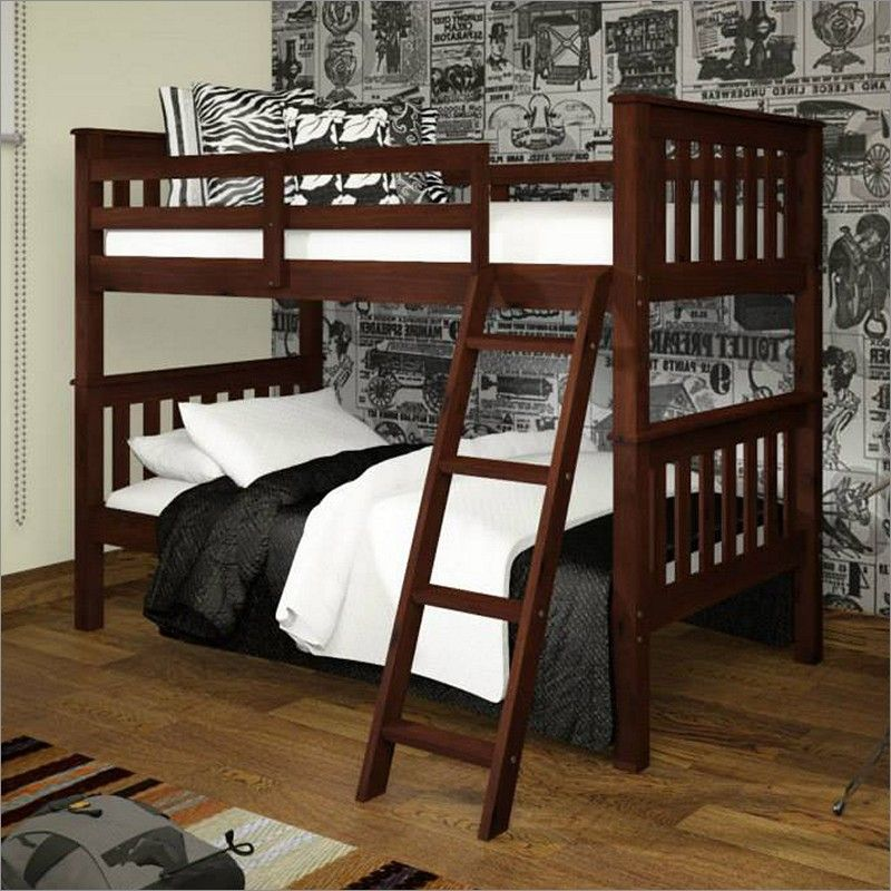 Donco Mission Bunk Bed with Tilt Ladder in Dark Cappuccino
