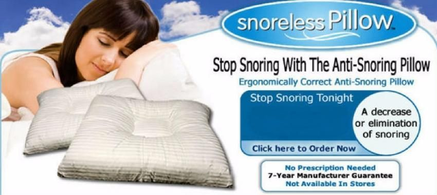 Snoreless Pillow Reviews Snoring Occurs When Free Movement Of Air