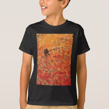 #FALL TREES TRIPTYCH (MIDDLE PANEL) T-Shirt - #cool #kids #shirts #child #children #toddler #toddlers #kidsfashion