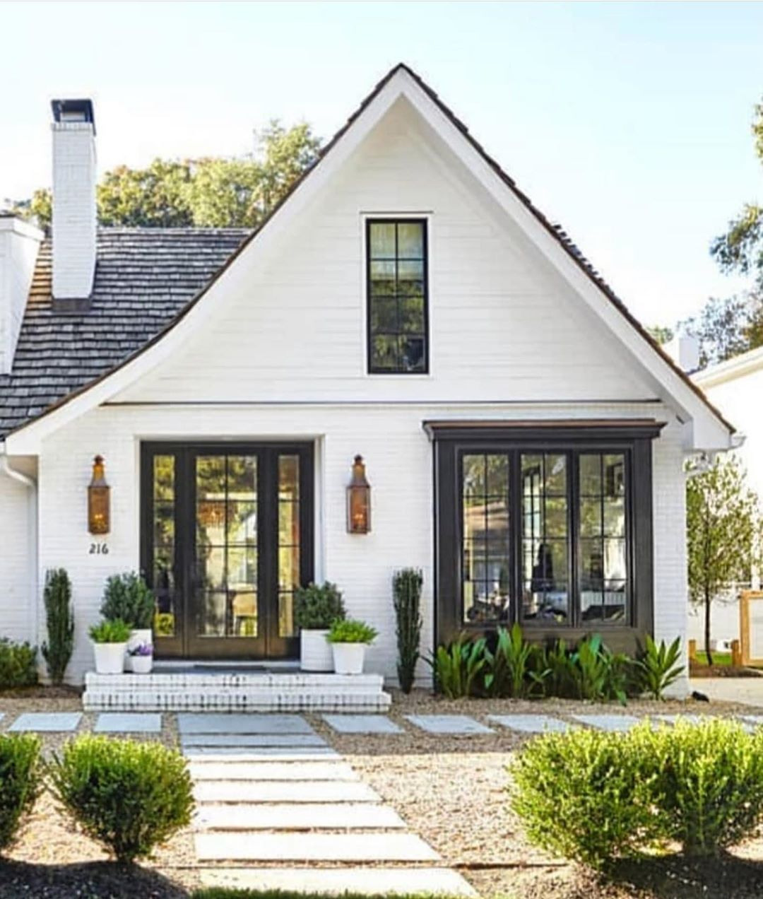 I Ve Learned That Home Isn T A Place It S A Feeling Home Via Ansleyatlanta Betterhomesandgard Modern Farmhouse Exterior Cottage Exterior House Exterior