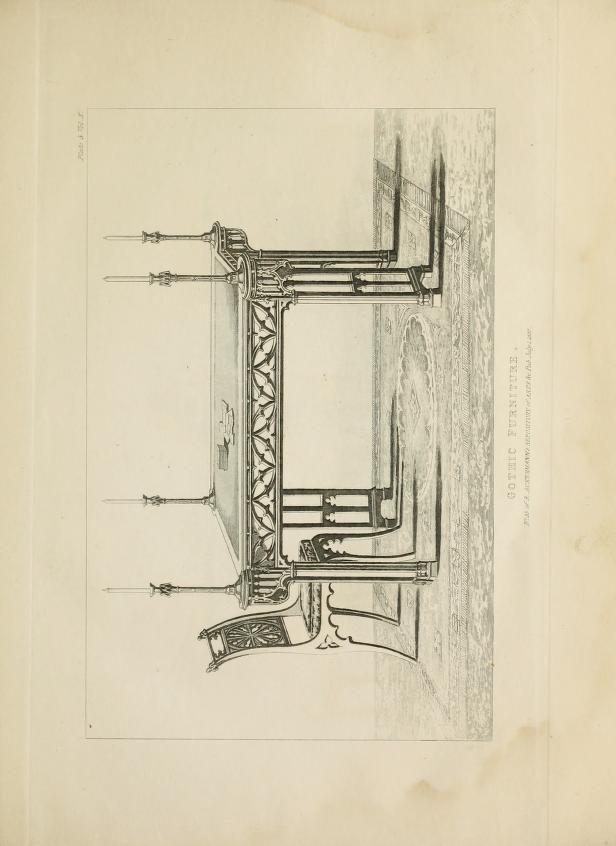 Gothic furniture : consisting of twenty-seven c...