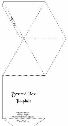 Printable Templates Pyramid Box Template Box Template Pyramid Box Gift Box Template