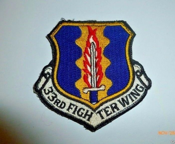 33rd Tactical Fighter Wing Smaller Sized Embroidered USAF U.S. Air Force Patch