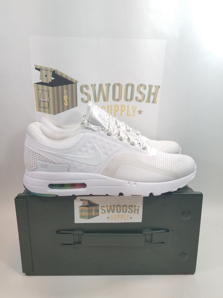 Nike Air Max Zero QS Be True White Pure Platinum New Size 9 789695-101  Nike   RunningShoes  7aa49f12c