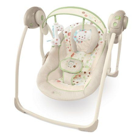 Amazon Com Bright Starts Comfort And Harmony Portable Swing Sandstone 53 99 Baby Soft Toys Baby Bouncer Baby Swings