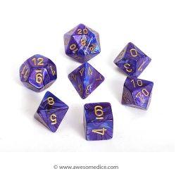 Lustrous Purple 7 Dice Set Purple D D Dungeons And Dragons