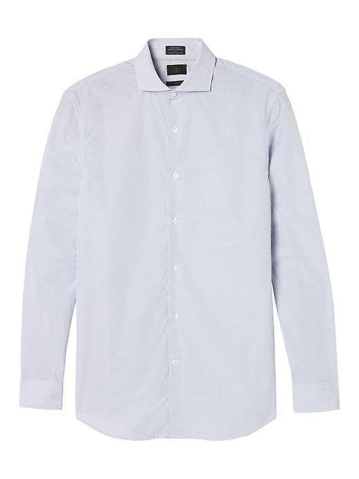 cd8f8bfd Banana Republic Mens Monogram Grant Fit Italian Cotton Grid Dress Shirt