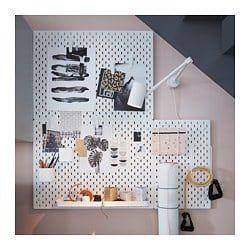 SKÅDIS Pegboard - white 76x56 cm   Peg board, Ikea, Ikea uk