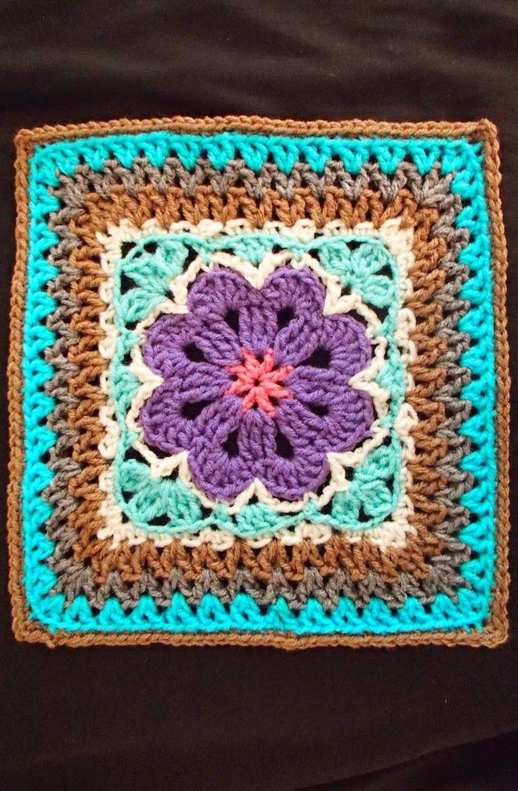 Free Crochet Pattern] Lovely And Adventurous Design: Flower Tile ...