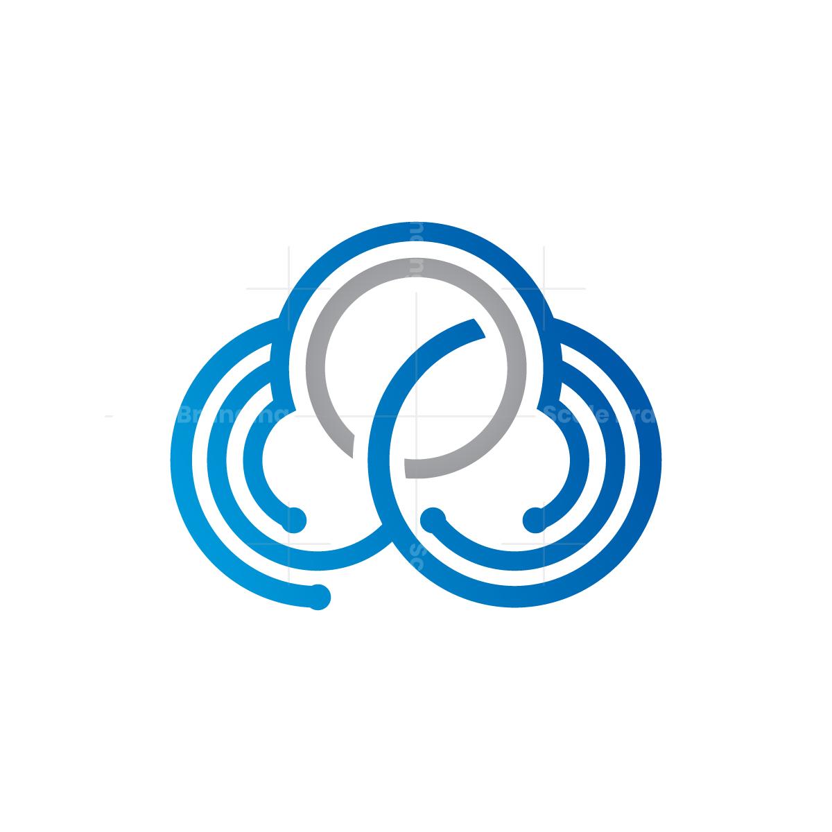 Tech Cloud Logo Logo Cloud Clouds Design Clouds