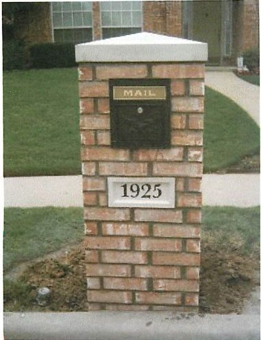 Brick mailbox styles standard brick model at 750 for Brick types and styles