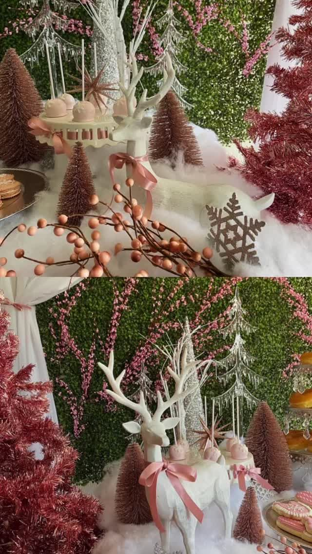 Pink Winter Wonderland 💗❄️ - - - - #PinkWinterWonderland #WinterWonderland #WinterTheme #PinkBabyShower #BabyShower #ItsAGirl #BabyGirl…