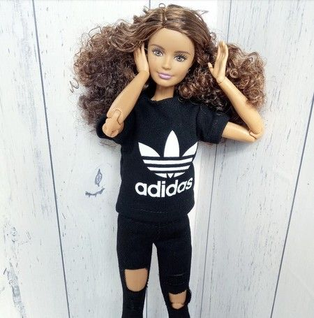Upcycled Sporty Barbie Doll Clothes Tshirt Handmade In Australia