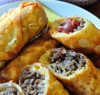BACON BURGER EGG ROLLS | Bacon burger, Recipes, Appetizer ...