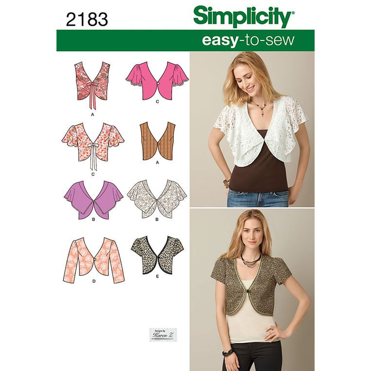 Simplicity Misses Easy to Sew Vest or Jacket Pattern