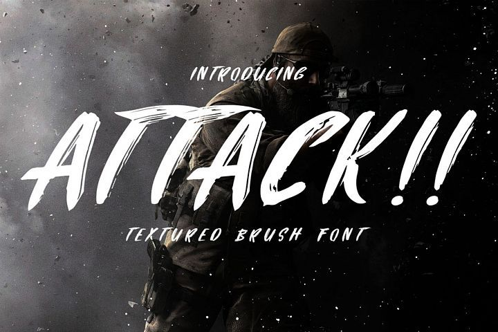 Attack Brush Font With Images Brush Font New Fonts Signature