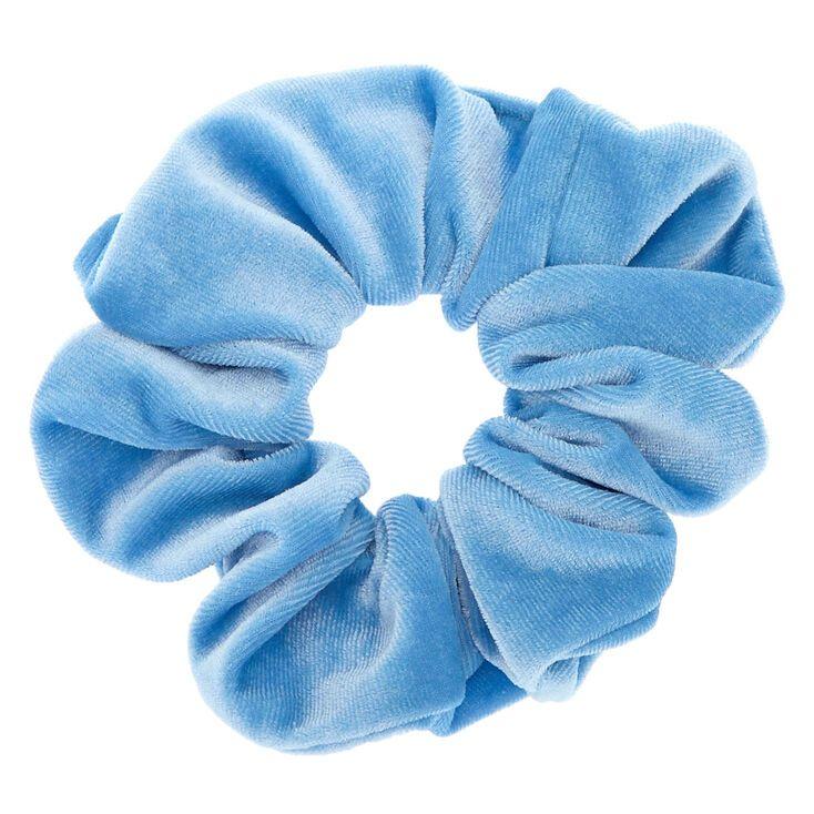 Medium Velvet Hair Scrunchie - Sky Blue