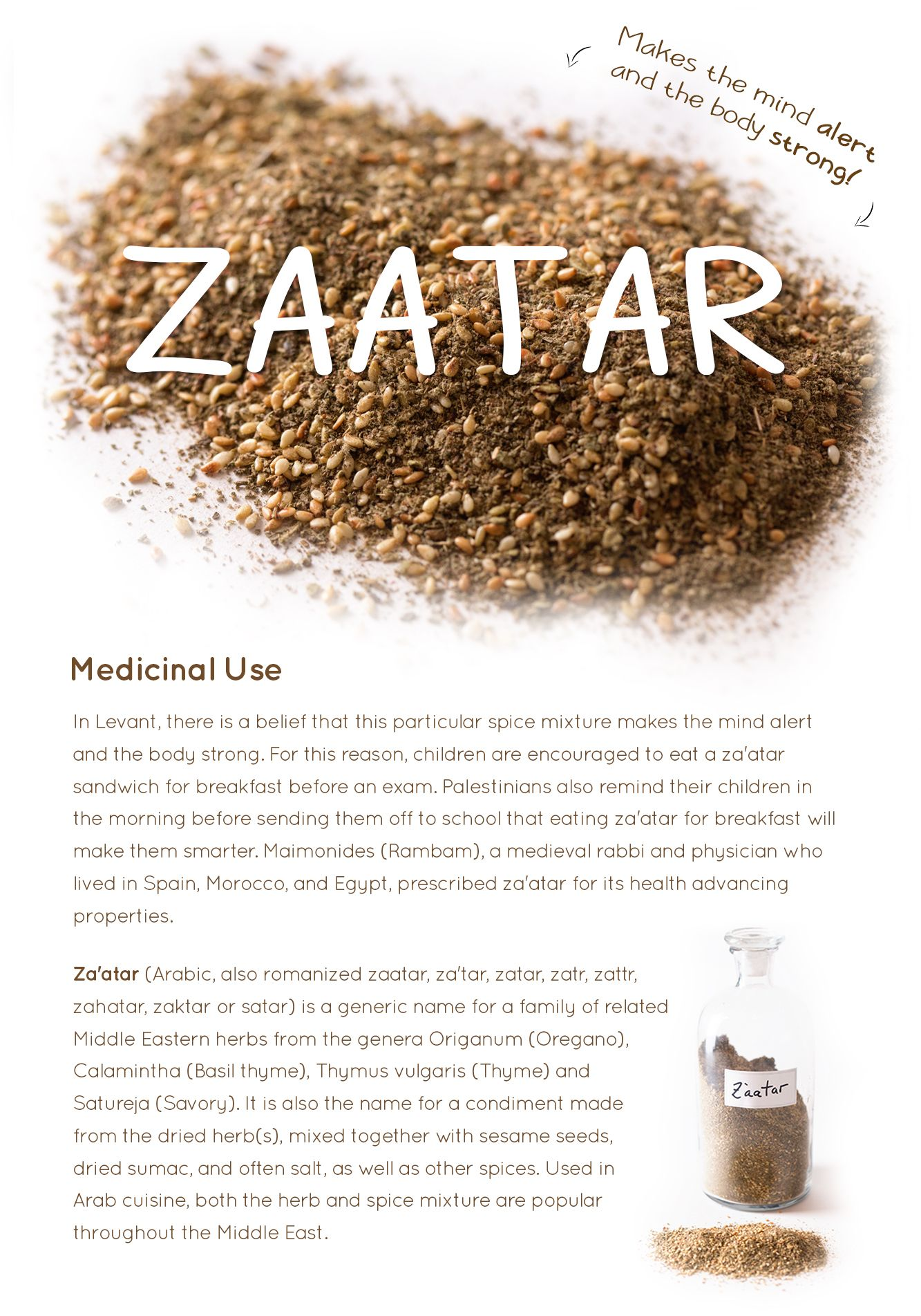 health benefits of zaatar — the spice detective | food