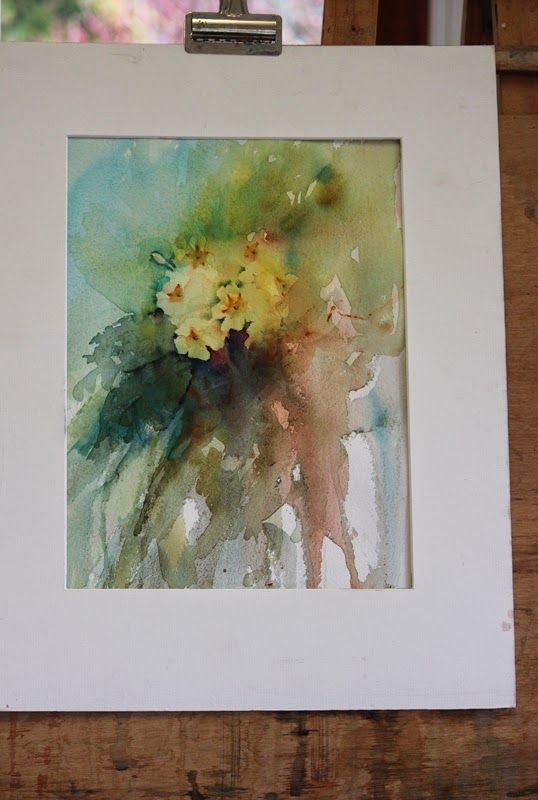 Adding Definition Primroses In Watercolour Floral Watercolor