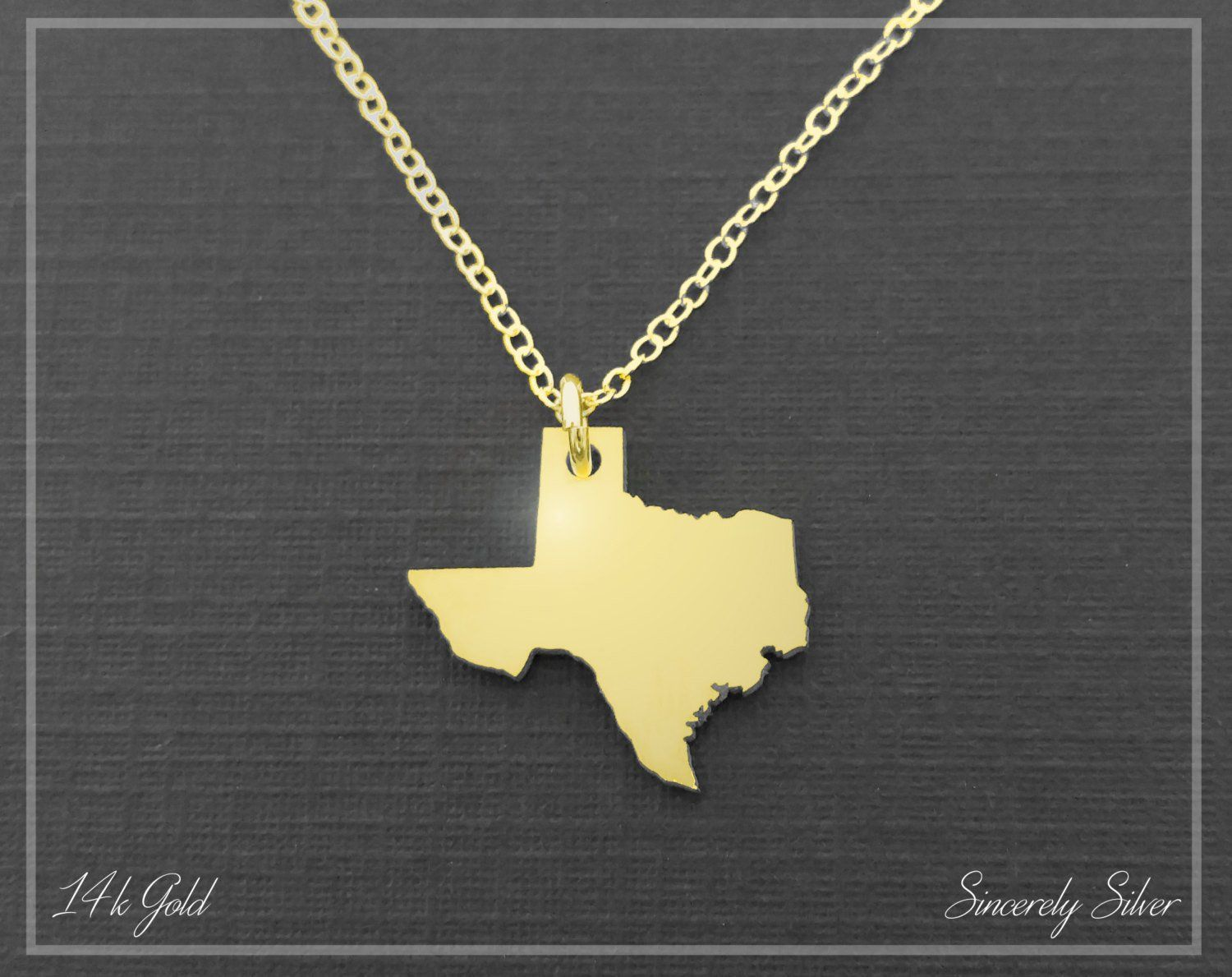 14k solid gold necklace gold texas state necklace gold texas 14k solid gold necklace gold texas state necklace gold texas pendant gold texas mozeypictures Choice Image