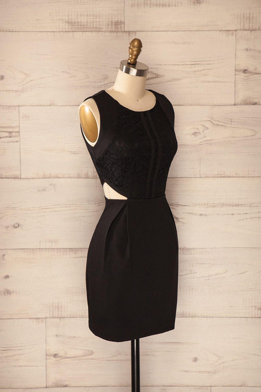 Armis - Black lace cut-out dress