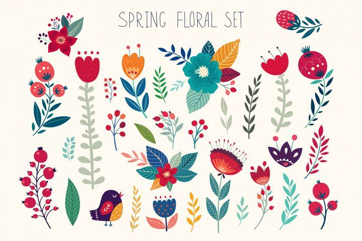 SPRING FLORAL COLLECTION #flowerpatterndesign