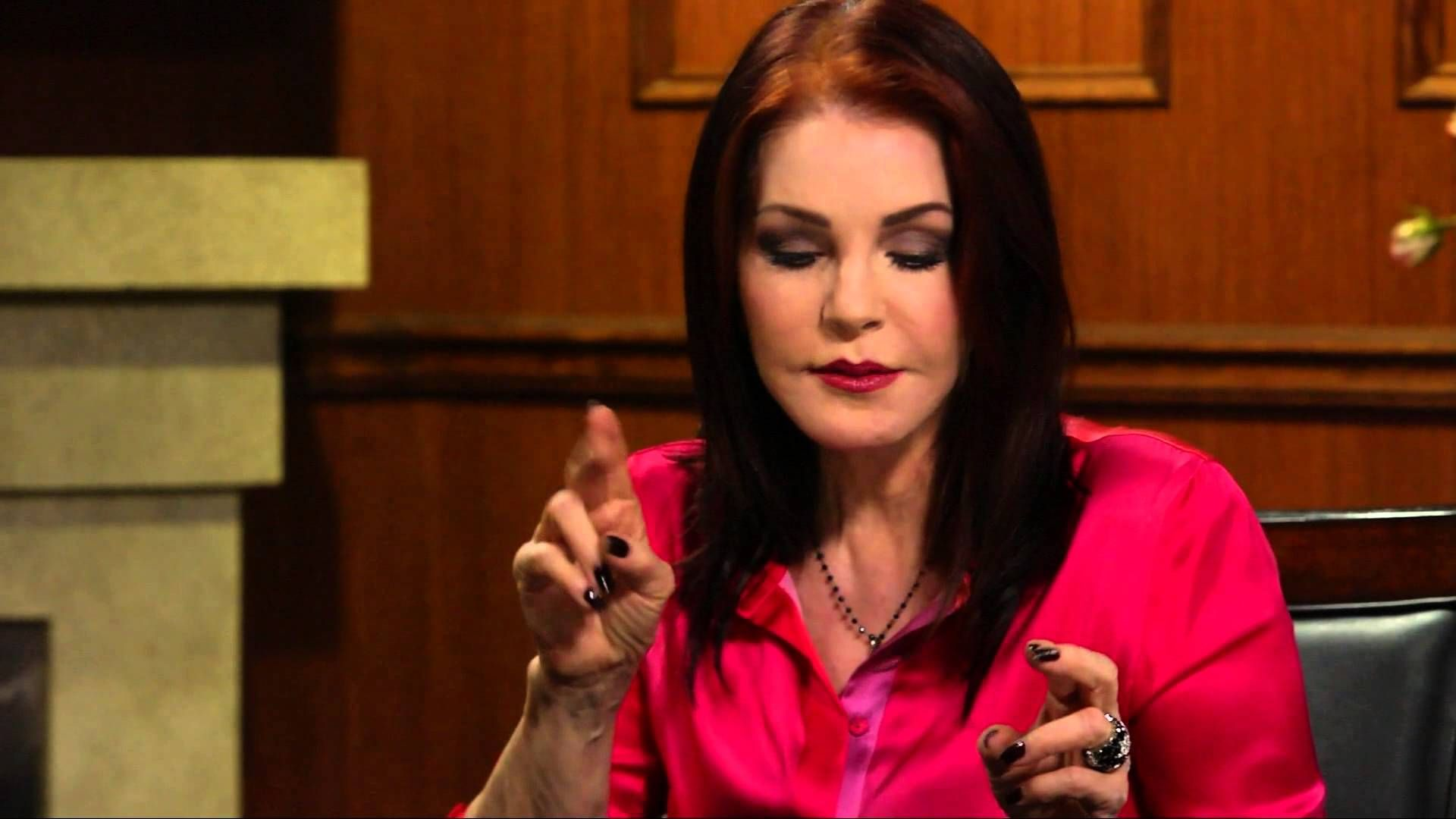 Priscilla Presley On Larry King Now Full Episode Available In The U Priscilla Presley Elvis Impersonator Elvis Presley