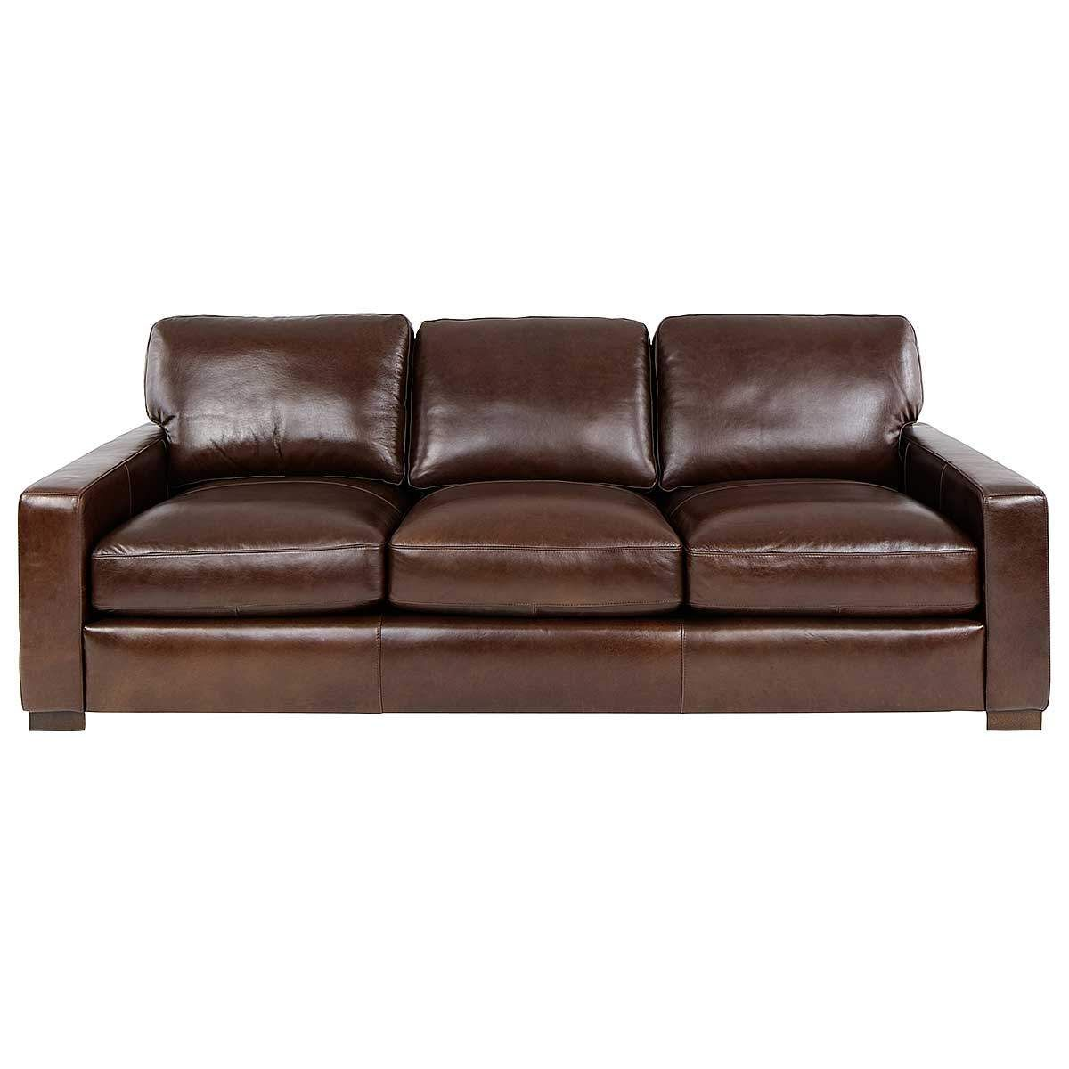 Fairview Leather Sofa In Chestnut Jerome S Furniture 94x42dx35h Leather Sofa Sofa Fabric Sofa
