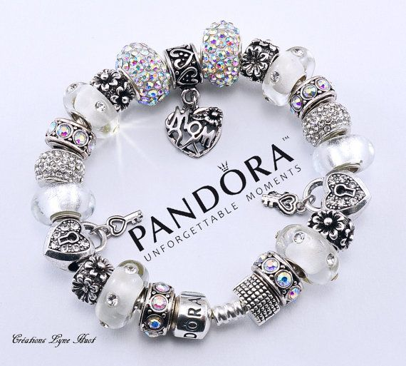 Authentic PANDORA bracelet sterling silver with charms or choose a ...