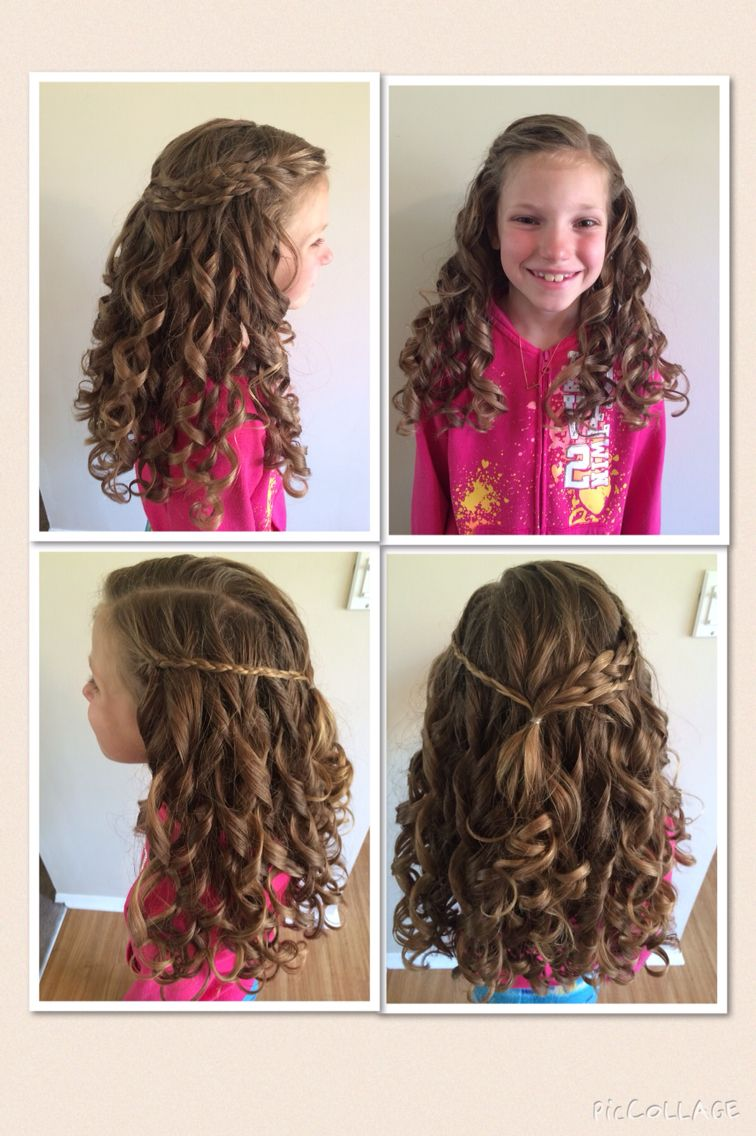 First Communion Hairstyle Went Perfectly With The Veil First Communion Hairstyles Communion Hairstyles Hair Styles