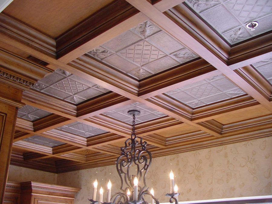 25 Best Wood Ceiling Ideas To Add Charm To Your Home Interiorsherpa Wood Ceiling Panels Dropped Ceiling Drop Ceiling Tiles