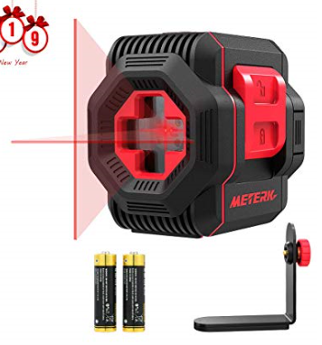Laser Level Meterk Cross Line Laser With Measuring Range 50ft Switchable Self Leveling Vertical And Horizontal Line Rotatable 360 Degree With Flexi Instrument