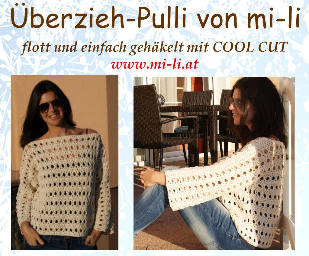 Pulli gehäkelt von mi-li mit Cool Cut | Häkeln | Pinterest | Pulli ...