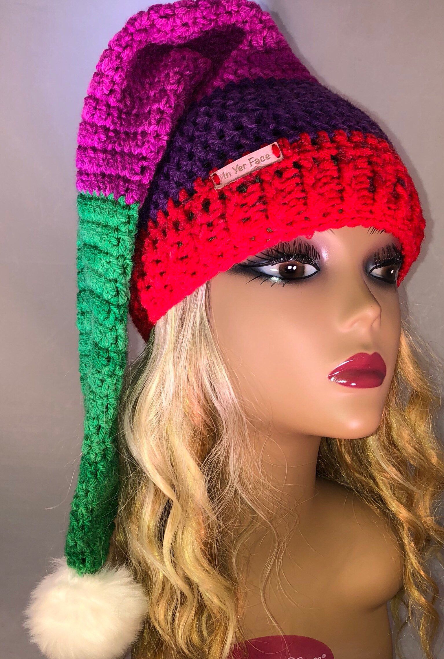 Excited to share the latest addition to my  etsy shop  Hand Crochet Long  Stocking Elf Beanie Hat  3713f34362e