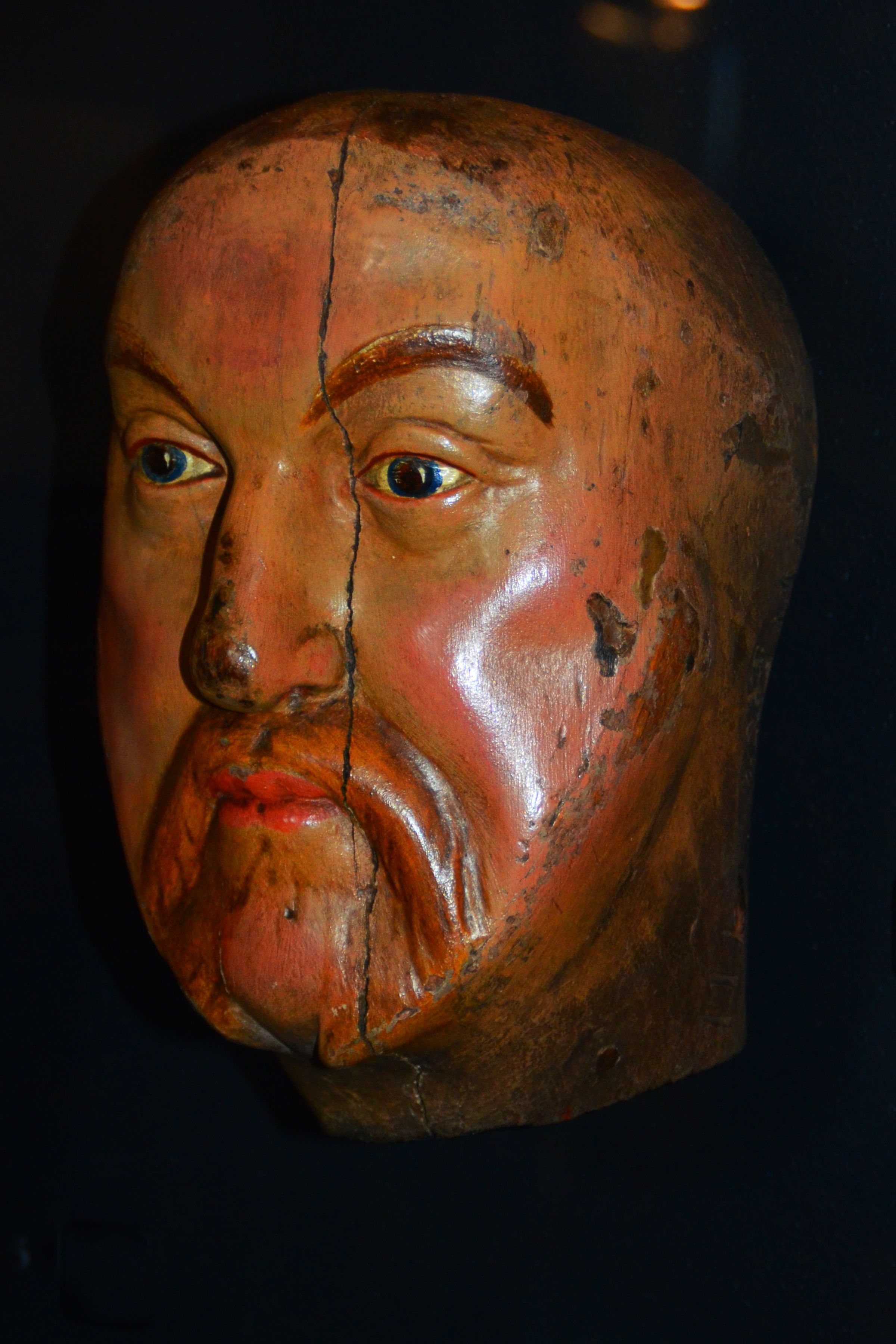 Photo of Henry VIII face mask at the Tower