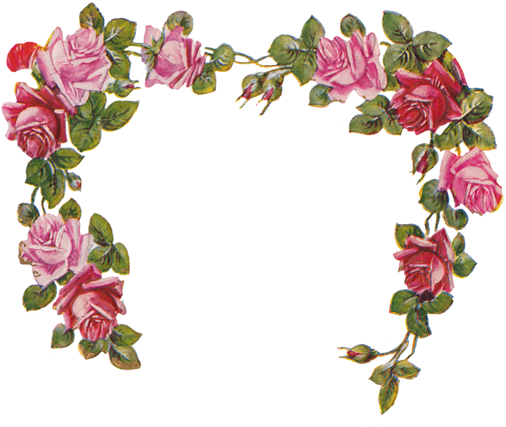 Wings Of Whimsy Die Cut Rose Heart Garland Png File Transparent Rh Com Free Vintage Flower Border Clip Art