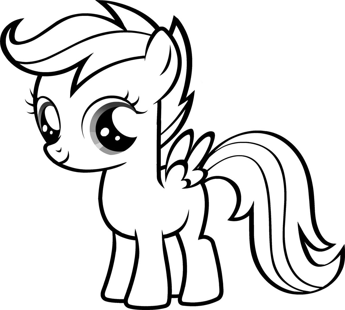 Free Coloring Pages Of Blank Pony My little pony 4th