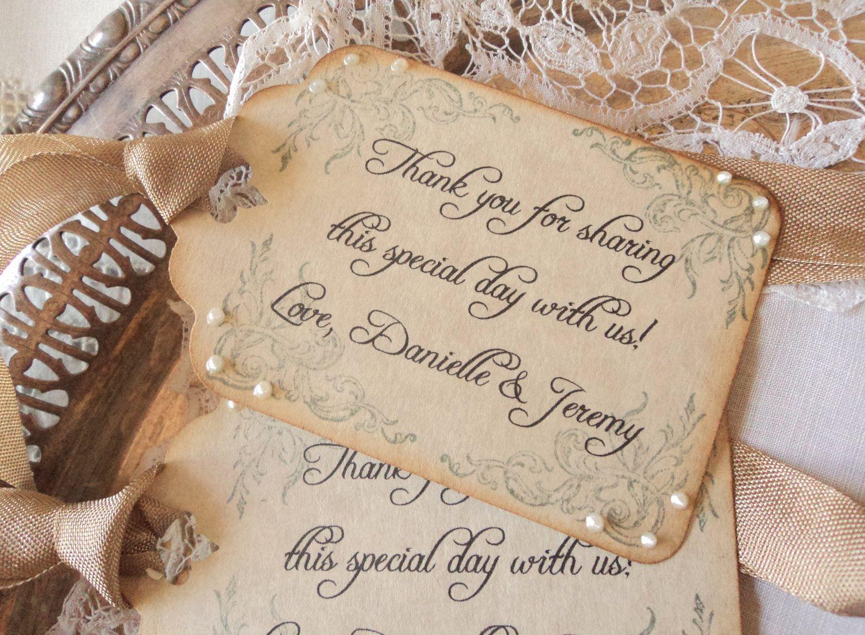 Wedding Thanks. 100 Personalized Custom Wedding Thank You Tags ...
