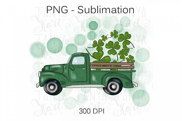 Clover Trefoil Png Green Truck Spring Design Sublimation (448641)   Sublimation   Design Bundles