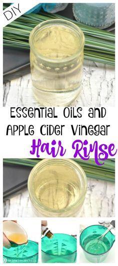 DIY Essential Oils and Apple Cider Vinegar Hair Rinse #hairhealth
