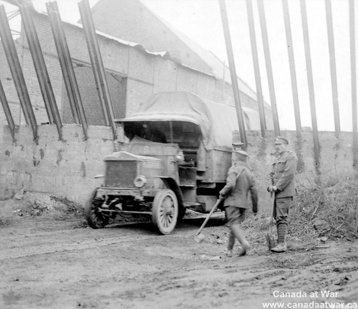 Tank Trap - This elaborate concrete trap was erected by German defenders in Pronville, France to stop Allied tanks. The steel bars prevented tanks from coming over the wall. There were few of these traps on the Western Front. The Germans usually relied on field guns firing over open sights to stop advancing armour. The guns were generally effective, but this left them dangerously close to the front and therefore vulnerable to attacking infantry.