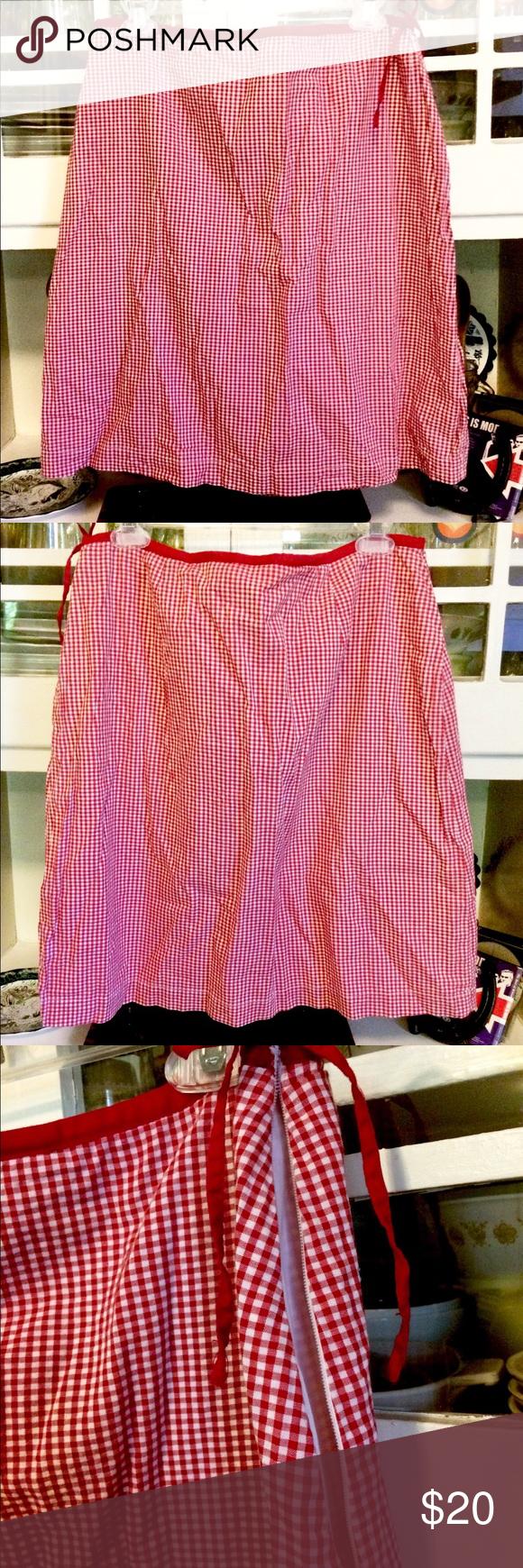 fe437ab0e74 Vintage Red/white Gingham Mini Skirt-Size 14 Super cute, lightweight gingham  mini