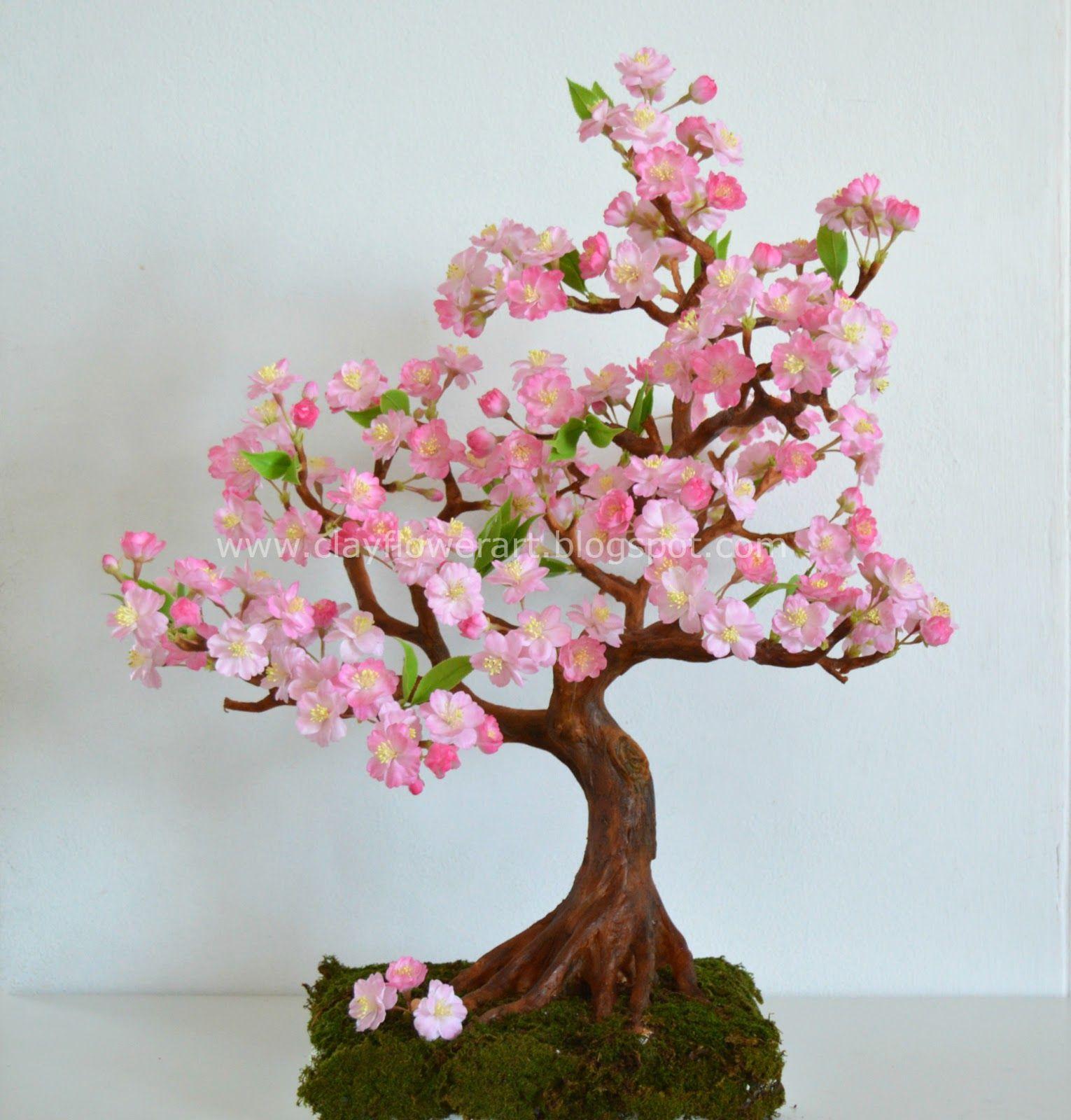 Cherry Blossom Clay Flower Art Bonsai Art Bonsai Tree Sakura Tree