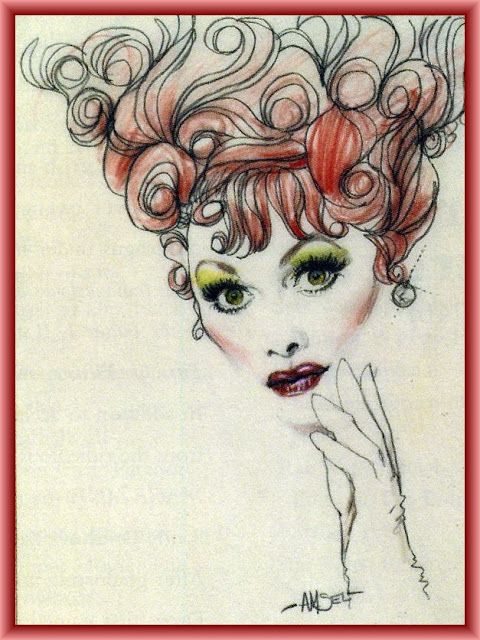 Lucille Ball By Richard Amsel Lucy And Ricky Original Artwork I Love
